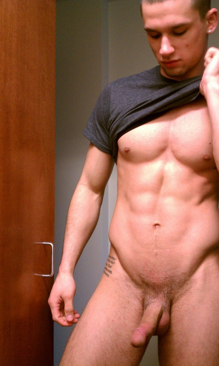 Muscle Guy Showing Off His Cock