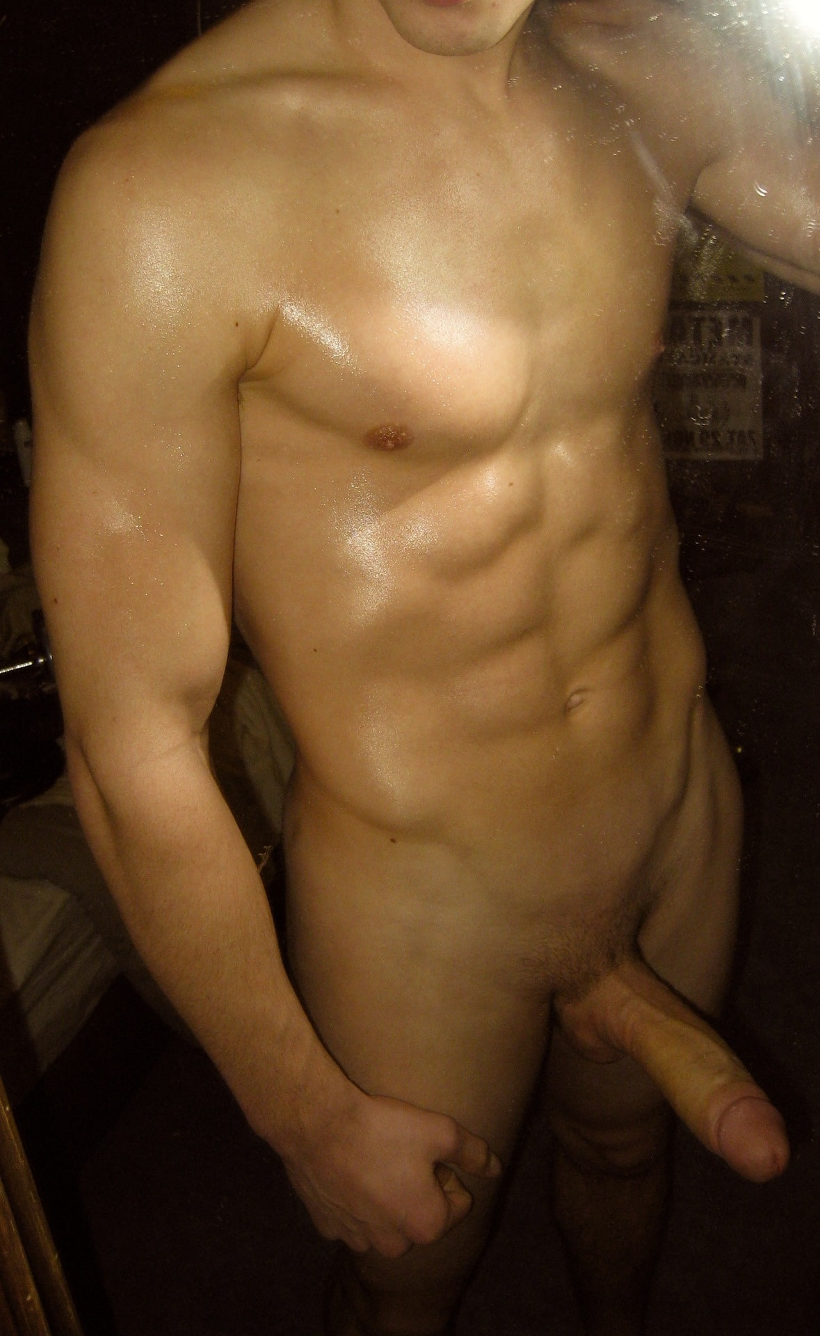 Muscle Boy With A Nice Big Cock