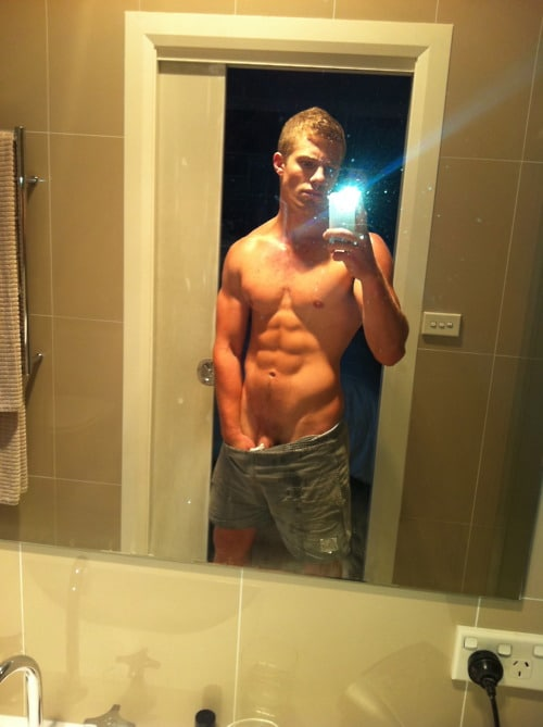Sexy Muscle Boy Taking Teasing Self Pics