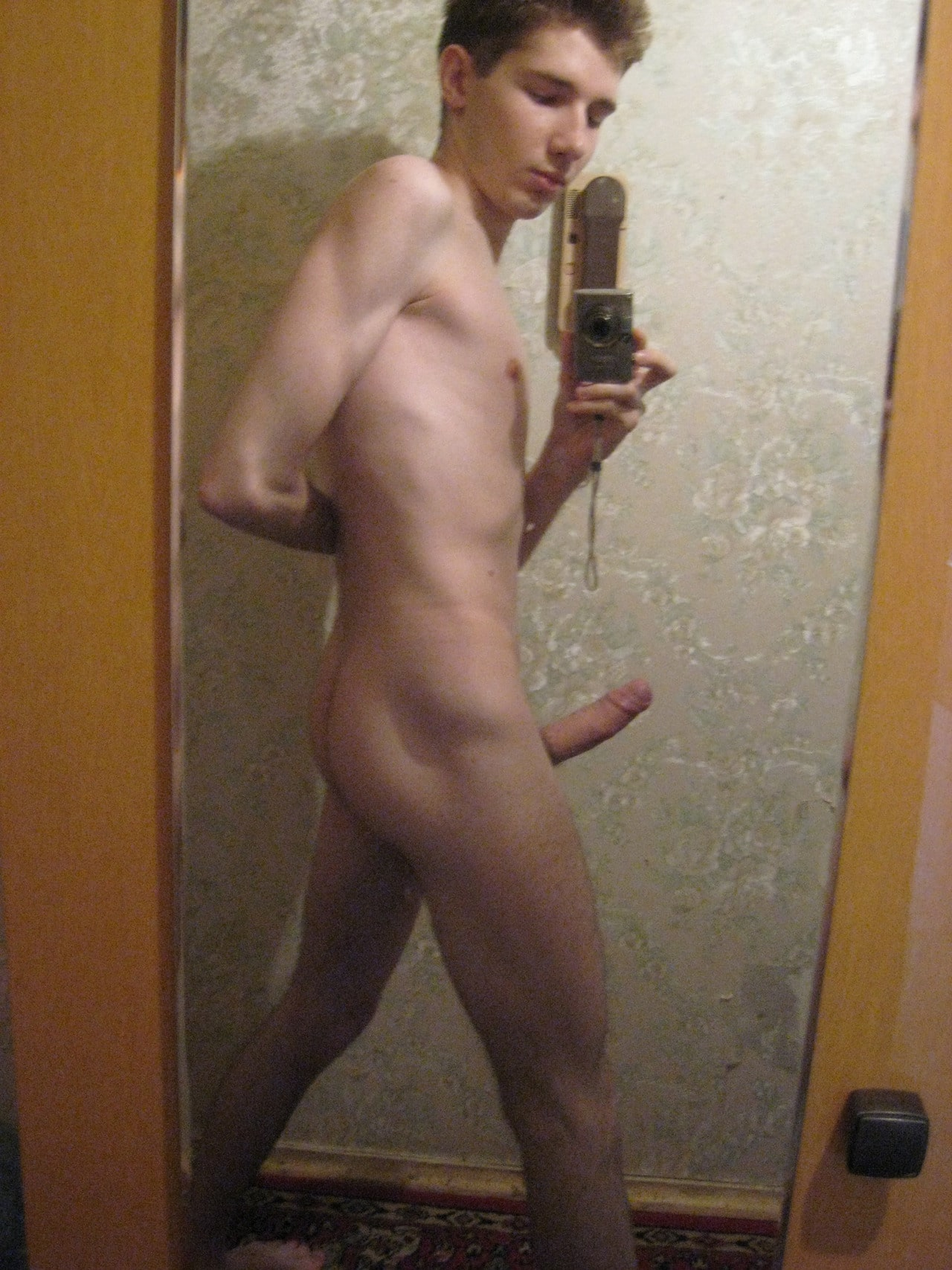 Nude Teen Boy With A Nice Big Uncut Cock